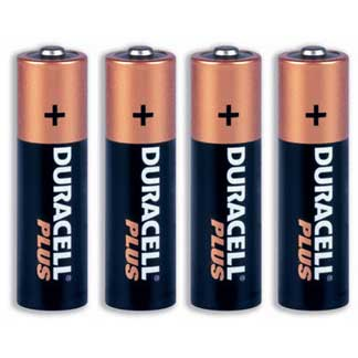 4 x Duracell AA Batteries for Sprayaway